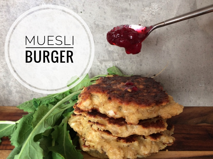 Old school muesli burger
