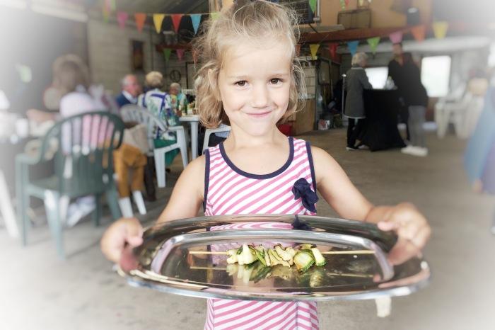 Buurt BBQ en vegetariers met een midlife crisis