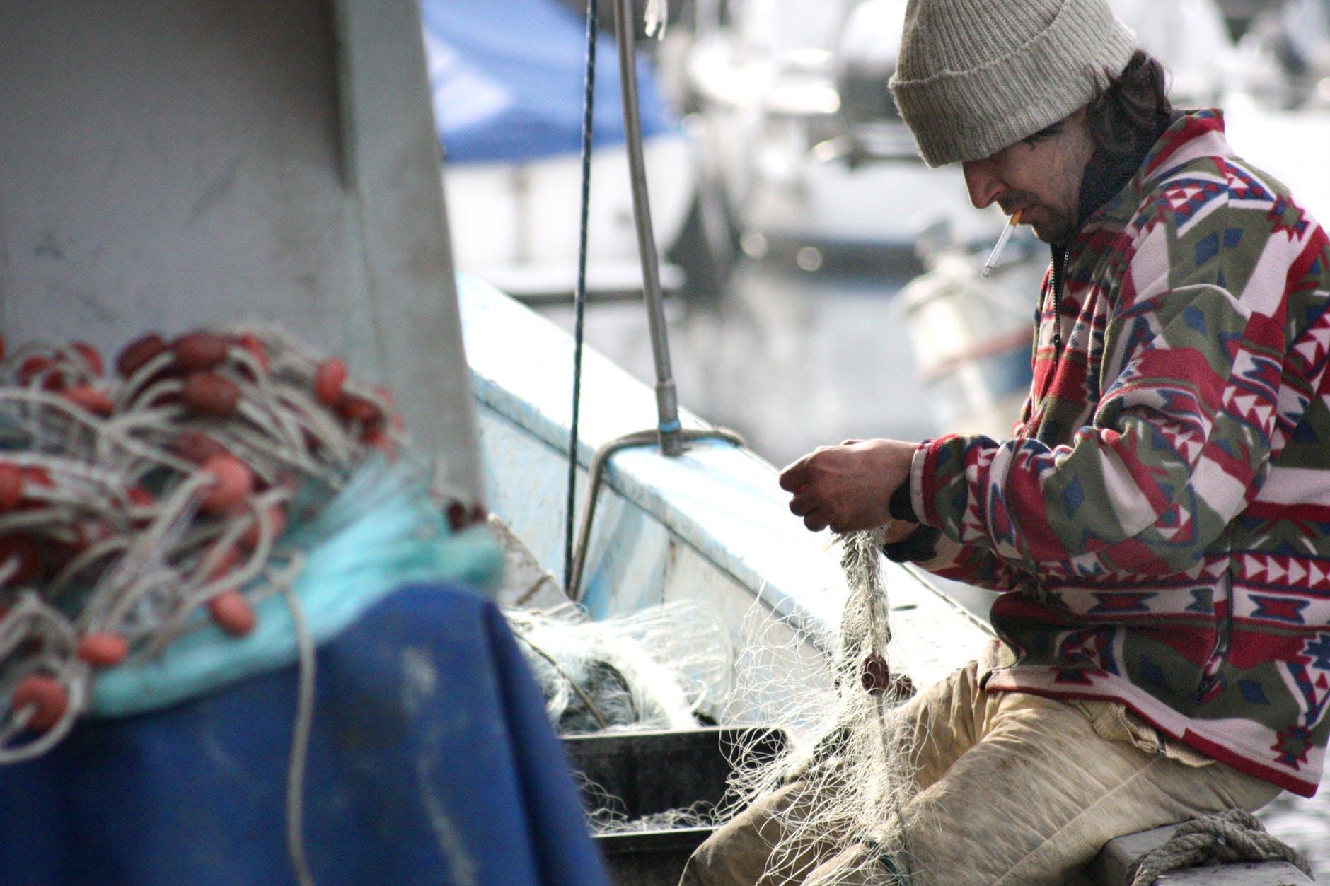 fishing sea boat fisherman